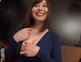 Sweet Japanese seductress gets kinky on her toys picture 10