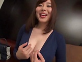 Sweet Japanese seductress gets kinky on her toys picture 7