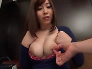 Sweet Japanese seductress gets kinky on her toys