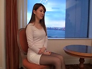 Japanese amateur model gets naughty on her toys