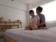 Ayaka Amada enjoys cum on face after good bedroom sex