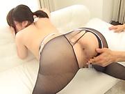 Nonomiya Misato looks sexy in her pantyhose