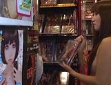 Amazing lady Tomoda Ayaka in lingerie enjoys handjob picture 13