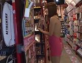 Amazing lady Tomoda Ayaka in lingerie enjoys handjob