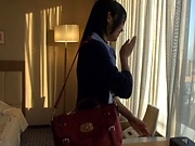 Japanese milf is making a porn video