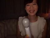 Misaki Kohanai enjoying a session with toys