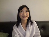 Amateur Japanese milf gets cock to play with