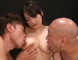 Arousing Asian milf gets hot load after threesome picture 13