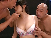 Sexy Asian married woman loves a steamy threesome