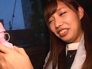 Kinky toy insertion session with Koike Nao