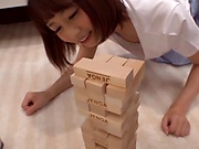 Kinky game play turns into hot sex for young amateur Japanese