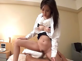 Very busty Asian babe gets screwed superbly