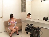 Hot babe Shirose Mio in kinky toy session indoors picture 11