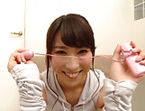 Hot babe Shirose Mio in kinky toy session indoors