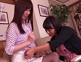 Asian lesbos enjoying private masturbation scenes picture 12