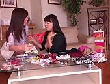 Asian lesbos enjoying private masturbation scenes