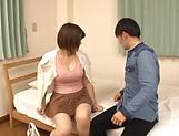 Juicy Japanese milf takes a messsy cum on tits