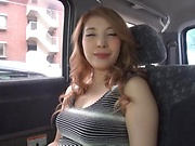 Japanese wife ready for some naughty sex in the car
