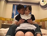 Foxy maid plays nasty in pure Japanese make out picture 11