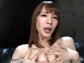 Suzumira Airi teases while in a sexy black dress