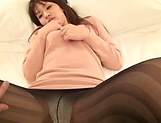 Sexy milf in stocking gets freaky indoors