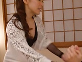 Big tits lingerie lady Shiraki Yuuko goes wild on cock