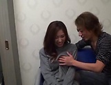 Arousing Japanese milf with big tits is toyed picture 3