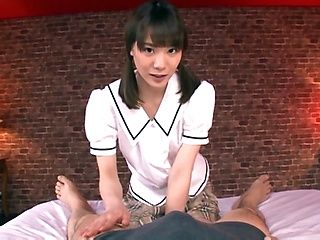 Hot Suzumira Airi offers a sensational handjob