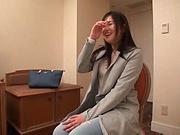 Sweet Japanese amateur seductress pleasured