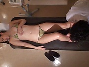 Hot steamy massage action for Saryuu Usui