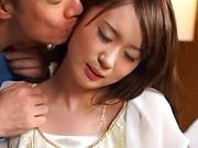 Tokyo Japanese milf gets a cum on face