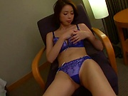 Petite Asian lady enjoys kinky bondage delights