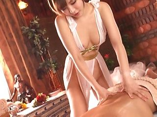 Experienced masseuse gets cum on tits