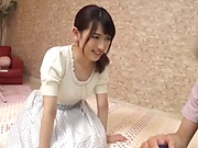 Kinky Japanese babe sucks and fucks with lust