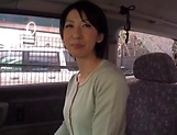 Fiery JApanese AV model fucked hard with a dildo in the back of a car