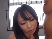 Gorgeous babe Yoshinaga Akane enjoying a lovely shag