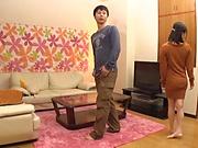 Amateur Japanese av model ends up sucking and fucking