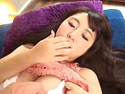 Long-haired beauty with big tits Arihana Moe gets fucked nicely