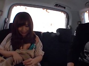 Japanese married woman gets drilled in the car