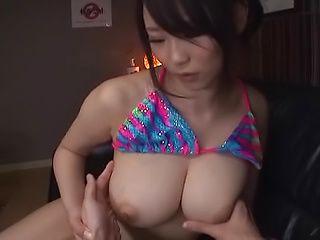 Busty Asian milf Yoshinaga Akane enjoys tit fucking cock