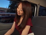 Stunning Japanese AV model has hardcore sex in the back of a car picture 10