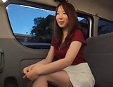 Stunning Japanese AV model has hardcore sex in the back of a car picture 11