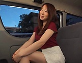 Stunning Japanese AV model has hardcore sex in the back of a car picture 12