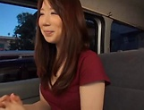 Stunning Japanese AV model has hardcore sex in the back of a car picture 14
