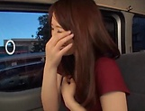 Stunning Japanese AV model has hardcore sex in the back of a car picture 15