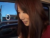 Stunning Japanese AV model has hardcore sex in the back of a car picture 3
