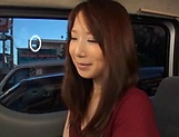 Stunning Japanese AV model has hardcore sex in the back of a car picture 4