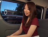 Stunning Japanese AV model has hardcore sex in the back of a car picture 6