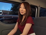 Stunning Japanese AV model has hardcore sex in the back of a car
