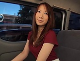 Stunning Japanese AV model has hardcore sex in the back of a car picture 9